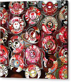 Hard Candies Acrylic Print by Wendy J St Christopher