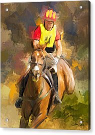Acrylic Print featuring the painting Hard Left by Joan Davis