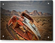 Hard Right Acrylic Print by Mark  Ross