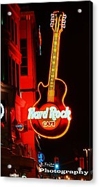 Acrylic Print featuring the photograph Hard Rock Cafe' by Al Fritz