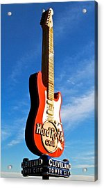 Hard Rock Cafe Cleveland Acrylic Print by Frozen in Time Fine Art Photography