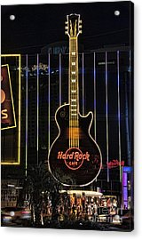 Hard Rock Cafe Acrylic Print by Peter Dang