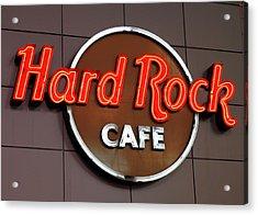 Hard Rock Cafe Sign Acrylic Print