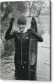 Hardy Jeannette Breaks The Ice At Rickmansworth Aquadrome Acrylic Print by Retro Images Archive