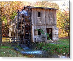 Hardy Mill In Autumn Acrylic Print by Ed Cooper