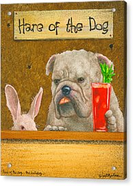 Hare Of The Dog...the Bulldog... Acrylic Print