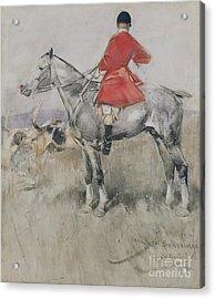 Hark To Statesman Acrylic Print by Joseph Crawhall