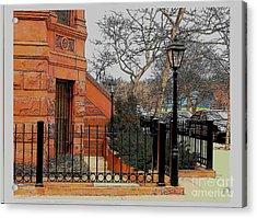 Harlem Corner Acrylic Print by Rudy Collins
