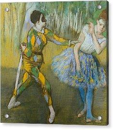 Harlequin And Columbine Acrylic Print by Edgar Degas