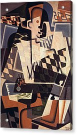 Harlequin With A Guitar, 1917 Acrylic Print by Juan Gris