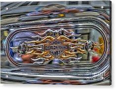 Harley Badge Acrylic Print by Steve Purnell