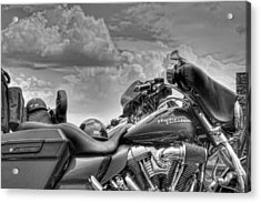 Harley Black And White Acrylic Print by Ron White