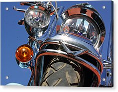 Acrylic Print featuring the photograph Harley Close Up by Shoal Hollingsworth