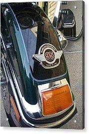 Harley Close-up Tail Light Acrylic Print by Anita Burgermeister