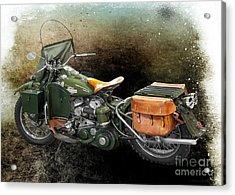 Harley Davidson 1942 Experimental Army Acrylic Print