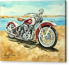 Harley Davidson 1960 Acrylic Print
