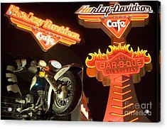 Harley Davidson Cafe Acrylic Print by Bob Christopher