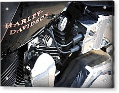 Harley - Davidson Acrylic Print by CarolLMiller Photography