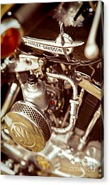 Acrylic Print featuring the photograph Harley Davidson Closeup by Carsten Reisinger
