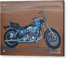 Harley Davidson Dyna Acrylic Print by Sally Rice