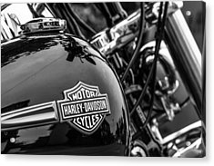 Acrylic Print featuring the photograph Harley Davidson. by Gary Gillette