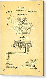 Harley Davidson Kick Starter Patent Art 1916 Acrylic Print