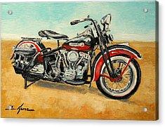 Harley Davidson Panhead Acrylic Print