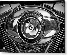 Harley-davidson Police B And W Acrylic Print by Cricket Hackmann