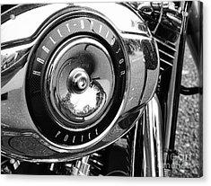 Harley Davidson Police Motorcycle Acrylic Print by Paul Ward