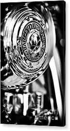 Harley Davidson Skull Casing Acrylic Print by Tim Gainey