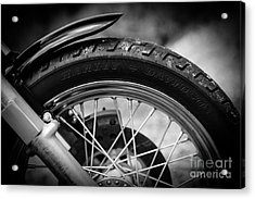 Acrylic Print featuring the photograph Harley Davidson Tire by Carsten Reisinger
