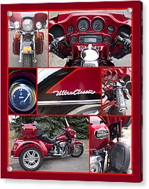 Acrylic Print featuring the photograph Harley Davidson Ultra Classic Trike by Patti Deters