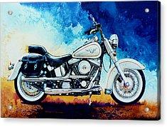 Harley Hog II Acrylic Print by Hanne Lore Koehler