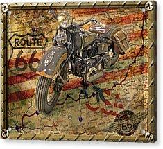 Harley On 66 Acrylic Print