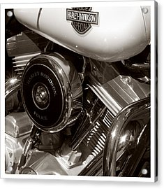 Harley Police Special Acrylic Print by Jeff Leland