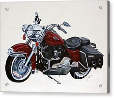 Harley Road King Acrylic Print by Janet Felts