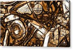 Harley Shovelhead Acrylic Print