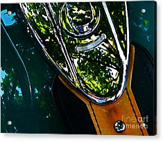 Harley Tank In Oils Acrylic Print by Chris Berry