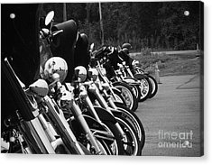 Harleys All In A Row Acrylic Print