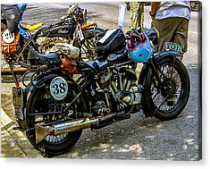 Harleys And Indians Acrylic Print