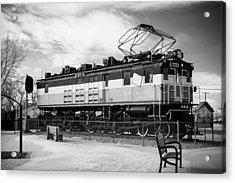 Harlo Train Acrylic Print by Paul Bartoszek