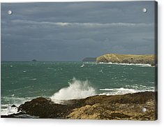 Harlyn Bay In North Cornwall Acrylic Print