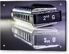 Acrylic Print featuring the photograph Harmonica by Gary Gillette