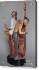 Harmonizing In D Acrylic Print by Wayne Headley