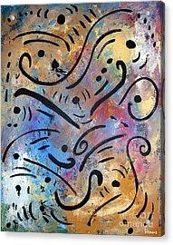 Harmony And Rain Acrylic Print by Venus