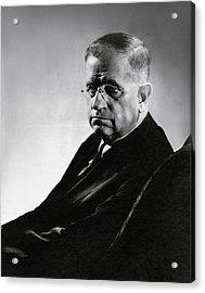 Harold L. Ickes Wearing Glasses Acrylic Print