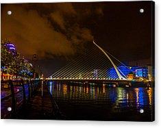 Harp Bridge Dublin Acrylic Print by Rob Hemphill