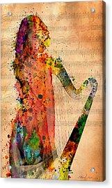 Harp Acrylic Print by Mark Ashkenazi