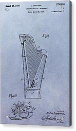 Harp Patent Acrylic Print by Dan Sproul