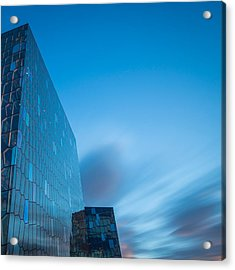 Harpa Concert And Convention Center Acrylic Print by Panoramic Images